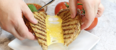 garlic butter grilled cheese