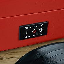 Akai R45OR - Tocadiscos con Bluetooth, Color Naranja