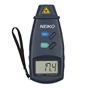 FITNATE Digital Tachometer RPM Meter 2.5-99,999 RPM Accuracy with Batteries Included Digital Non-Contact Handheld Laser Photo Tachometer