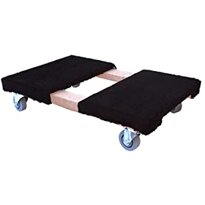 """Heavy Duty Moving Dolly with Carpeted Top, 19"""" x 32"""""""