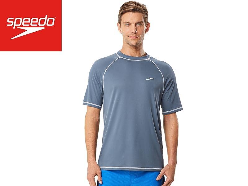 80287cc119 Amazon.com : Speed Men's Short Sleeve Easy Rash Guard Swim Shirt ...