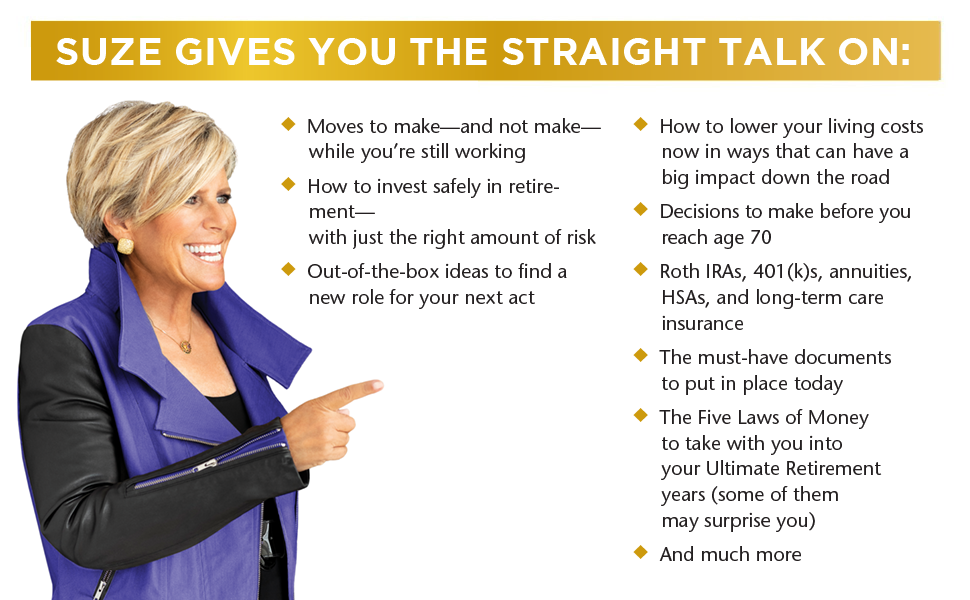 suze orman ultimate retirment guide will trust kit protection portfolio financial advisor money