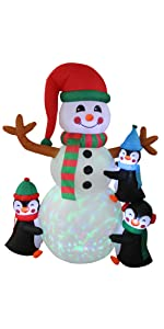bzb goods christmas inflatables inflatable airblown decor sunstar outdoor decoration gemmy blowup
