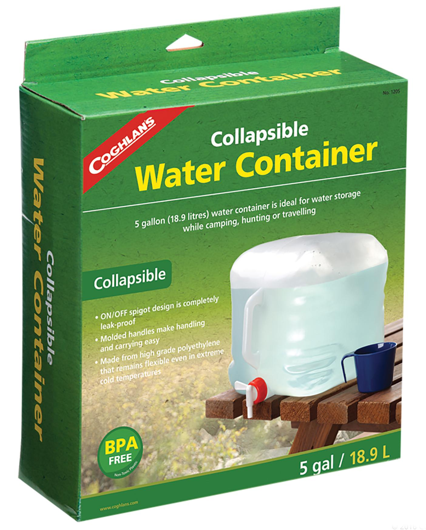 Amazoncom Coghlans Collapsible Water Container 5 Gallon Clear