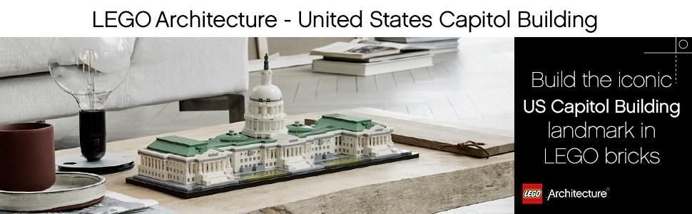 lego architecture, united states capitol building, construction toy, display