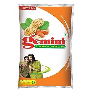 Gemini Groundnut Oil pouch 1 L