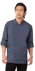 Chef Works Men's Hartford Chef Coat, Blue