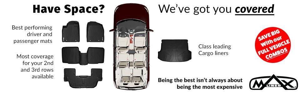 Black CFMBX1CH7842 Coverking Custom Fit Front and Rear Floor Mats for Select Chevrolet Caprice Models Nylon Carpet