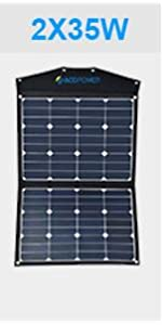 Acopower 70 Watt Foldable Solar Panel Kit