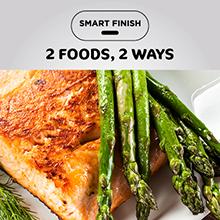 oil less fryer, air fryer salmon, air fryer asparagus, oil free fryer, roasted asparagus