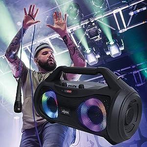 Axess MPBT6507 portable boombox speaker