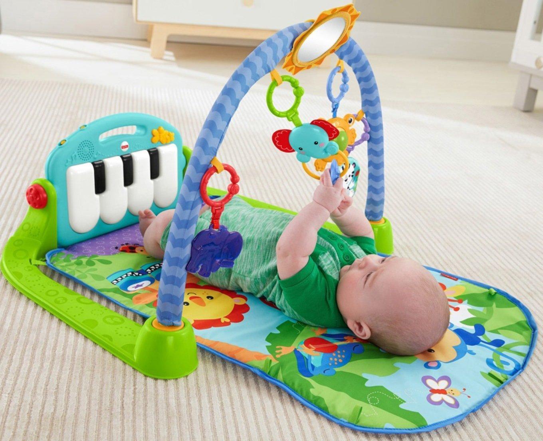 Amazon Com Fisher Price Kick Amp Play Piano Gym Blue