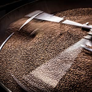 our coffee roaster in action