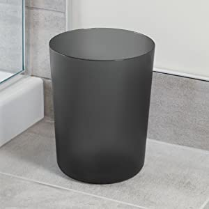 waste can basket trash college dorm campus bathroom kitchen bedroom garbage clean black