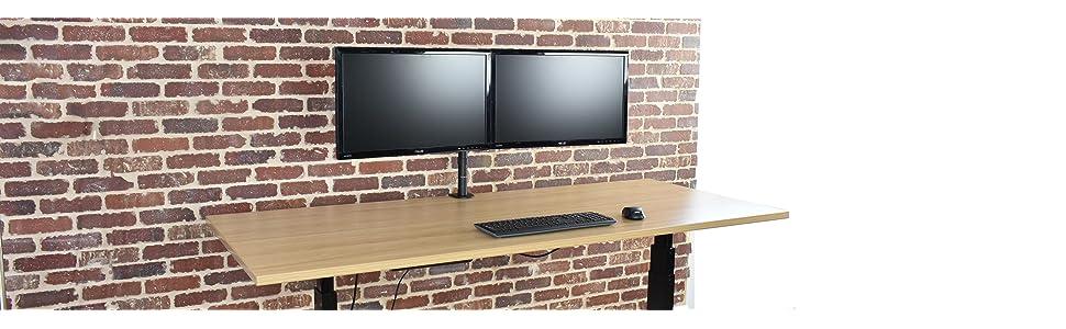 Amazoncom VIVO Dual LCD LED Monitor Desk Mount Stand Heavy Duty