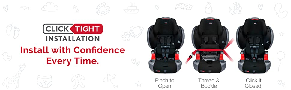 Britax Grow With You ClickTight Plus Clicktight Installation