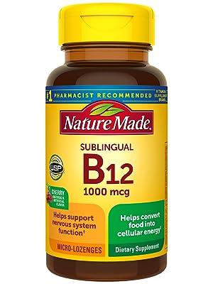 Sublingual Vitamin B12 1000 mcg Micro-Lozenges