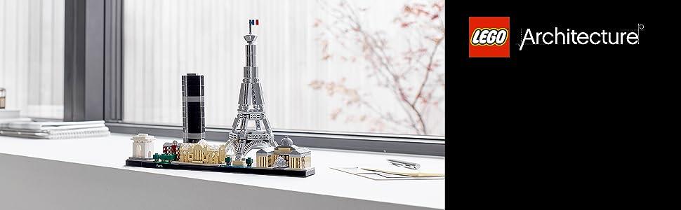 eiffel-torre-louvre-histórico-lego-arquitetura-21044-linha-horizonte-lembranças-arquitetural