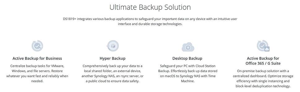 Synology DS1819+ 8 Bay Desktop NAS Enclosure: Amazon co uk