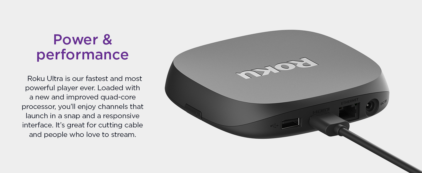 Newest Roku Ultra 2020 Power and Performance