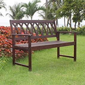 Awe Inspiring Amazon Com Northbeam Criss Cross Acacia Wood Outdoor Dailytribune Chair Design For Home Dailytribuneorg