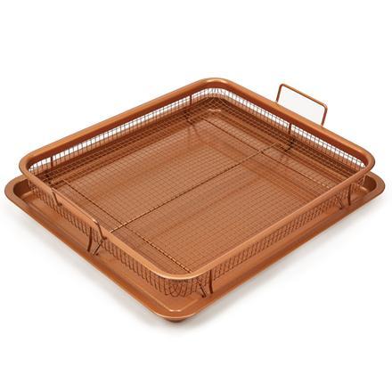 Copper Crisper Tray Nonstick Basket Chef Oven Air Fryer
