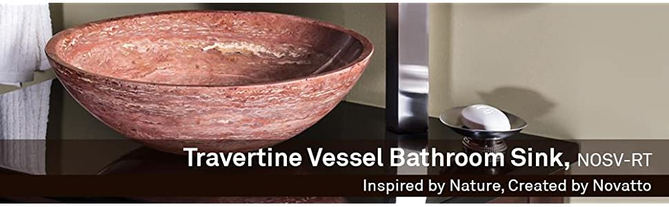 red Travertine vessel, stone bowl sinks, novatto sinks, modern bath sinks, vessel sinks, sink bowl