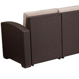 resin frame outdoor sofa