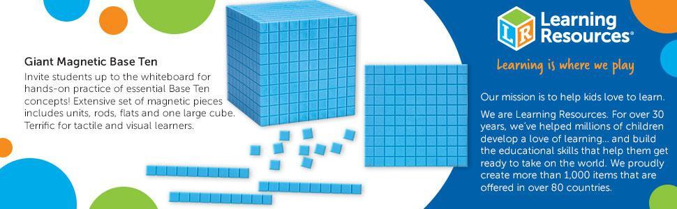Learning Resources Giant Magnetic Base Ten Demonstration Set Maths Manipulatives