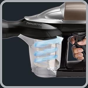 technologie cyclonique RH7329WO aspirateur balai sans fil x-pert essential 260 rowenta