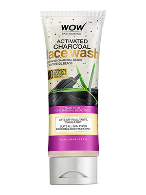 WOW Skin Science Activated Charcoal Face Wash - 100 mL - TUBE