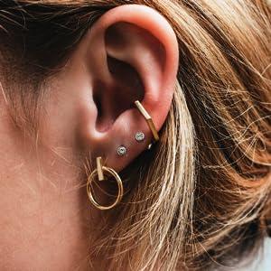 800031 \u2013 Earrings Onyx Acrylic /& 925 Sterling Silver