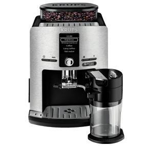 Krups Lattespress QF Die Cast EA82FD - Cafetera Super Automáticas de 15 Bares de Presión, Molinillo Cónico y Metálico, Sistema de Prensado Ultraplano, con 3 Niveles de Temperatura y Sistema Autoclean: Amazon.es: Hogar