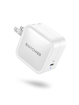 USB C Charger, RAVPower 61W Wall Charger PD 3.0 [GaN Tech] Type C Fast Charging Power Delivery Foldable Adapter, Compatible with iPhone 11/Pro/Max, ...