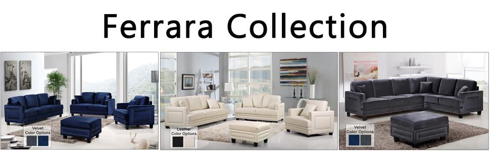 living room furniture amazon. Read more Amazon com  Meridian Furniture Ferrara Velvet Nailhead Sofa Grey