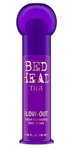 tigi bed head bedhead blow out golden shine cream smooth soft silk hair flyaways brunette frizzy