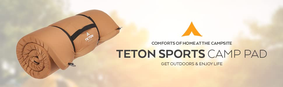 Enjoy the comforts of home at the campsite with the TETON Sports Camp Pad