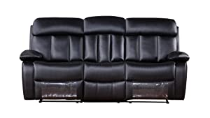 American Eagle Furniture 3 Piece Dunbar Collection Faux Leather Reclining Living Room Sofa Set  sc 1 st  Amazon.com & Amazon.com: American Eagle Furniture 3 Piece Dunbar Collection ... islam-shia.org