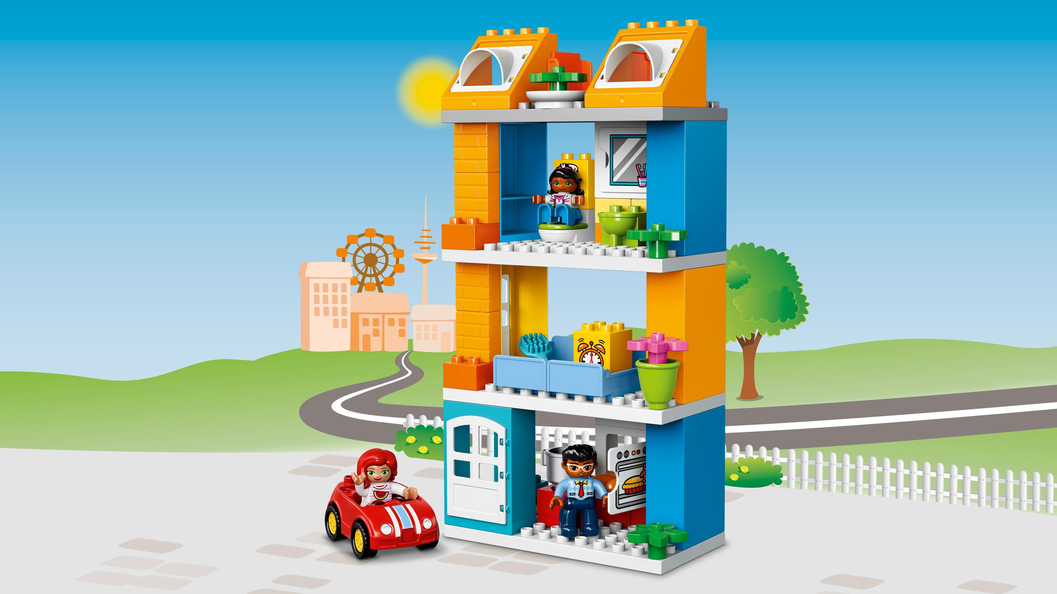 lego duplo 10835 familienhaus kleinkind spielzeug ab 2 jahren. Black Bedroom Furniture Sets. Home Design Ideas