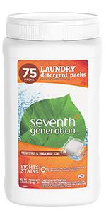 laundry detergent, seventh generation laundry detergent, laundry soap, tide, tide pods, laundry pacs