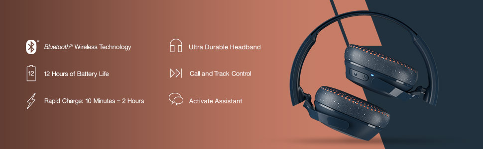 Riff Wireless On-Ear Headphones Features