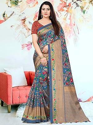 Rajnandini Kanjivaram Silk Woven Traditional Saree with Tassels