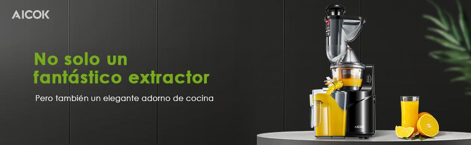 Licuadora Prensado Frío, Aicok Licuadoras Para Verduras y Frutas ...