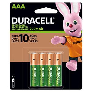 baterías recargables duracell