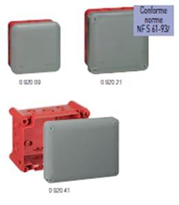 Legrand LEG92032 Bo/îte carr/ée /étanche Plexo embout IP55//IK07 Gris