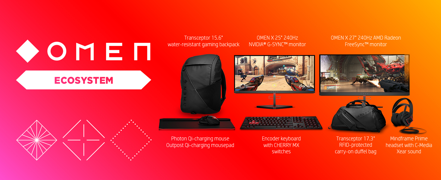 ecosystem accessories monitor intel 9th gen gsync keyboard headset mouse pad backpack