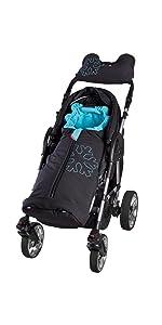 ByBoom Softshell Winterfußsack Thermo Aktiv für Kinderwagen und Buggy