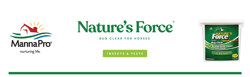 nature's force horse fly manna pro horses flies insects bugs supplement healthy bug clear
