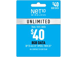 Unlimited 8GB Plan Refill Card