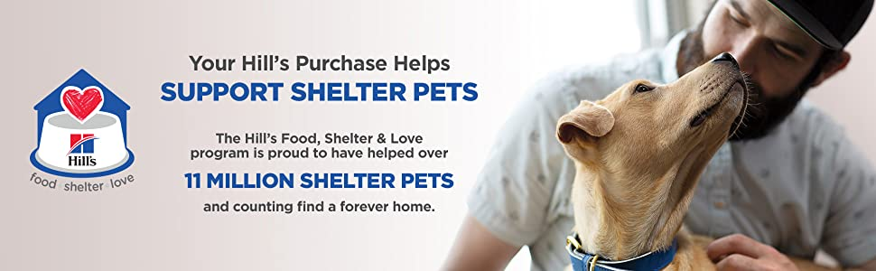 hill's supports shelter pets